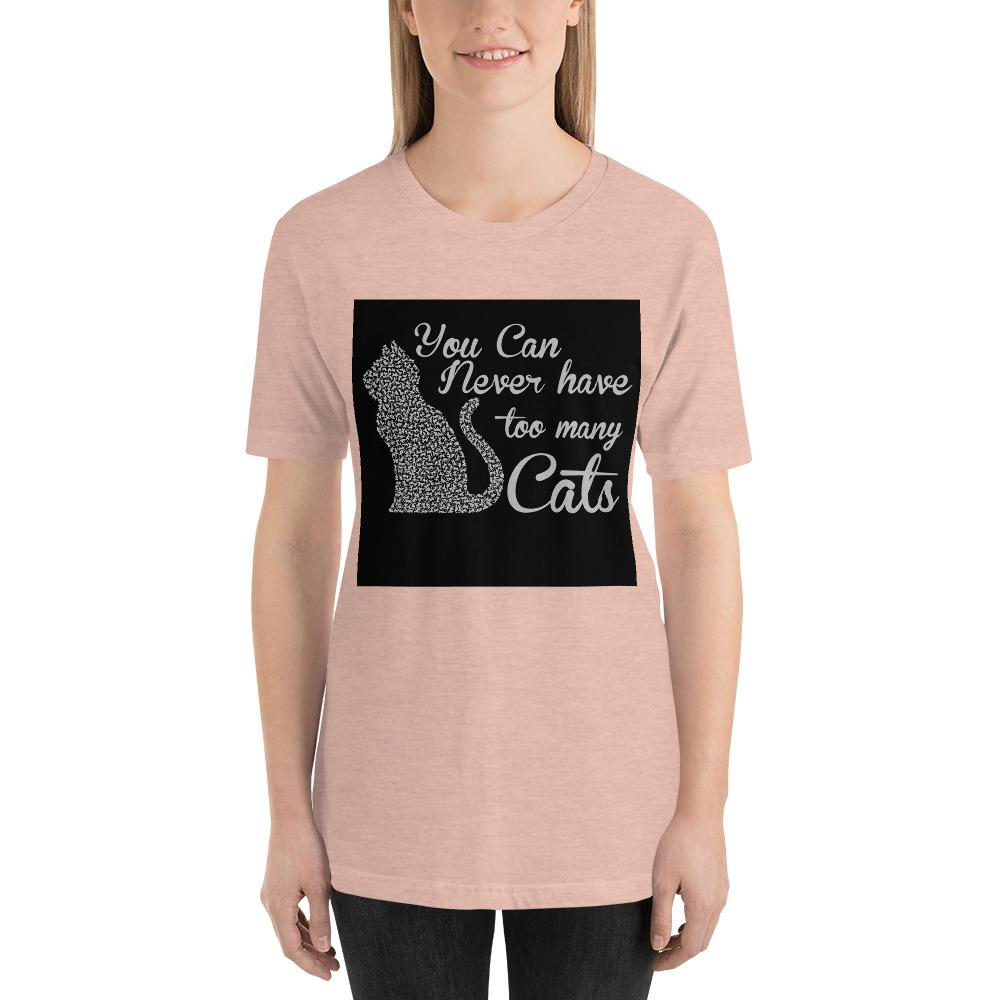 You can never have too many cats Women's T-Shirt Chiro's Heather Prism Peach XS