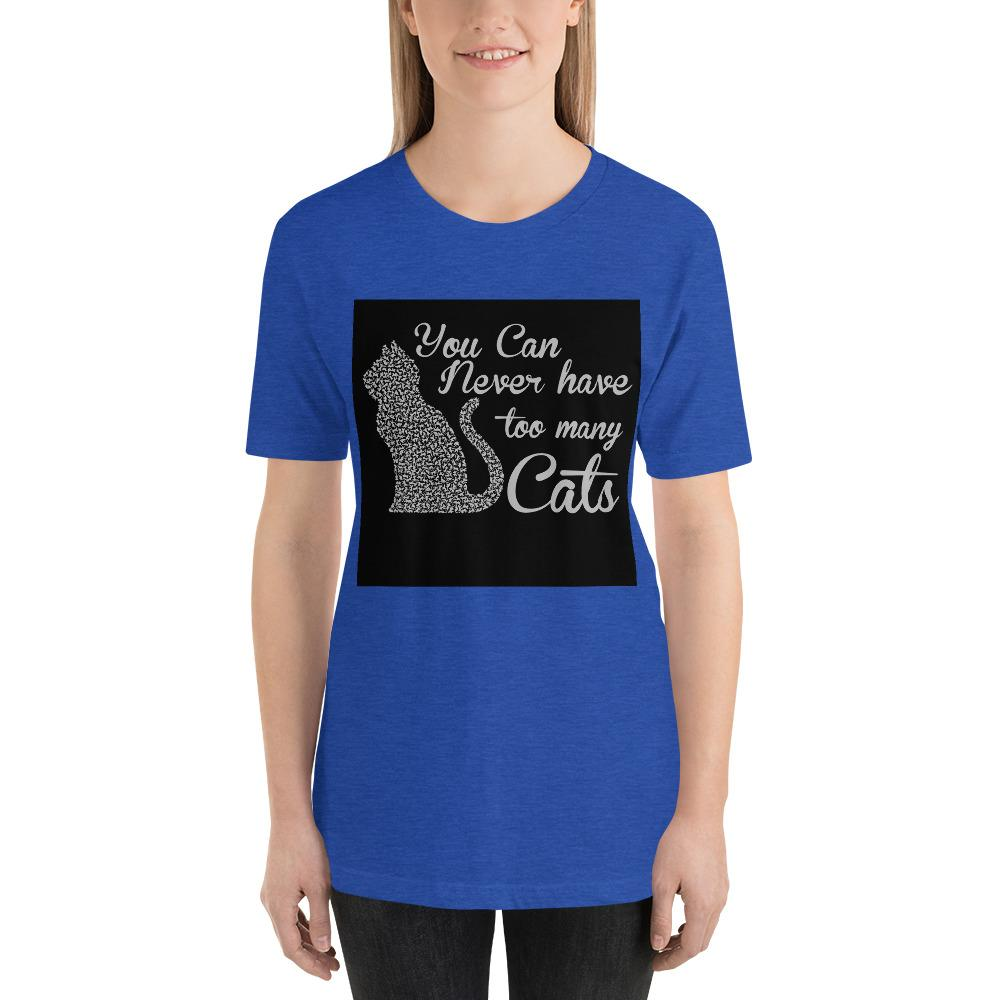 You can never have too many cats Women's T-Shirt Chiro's Heather True Royal S