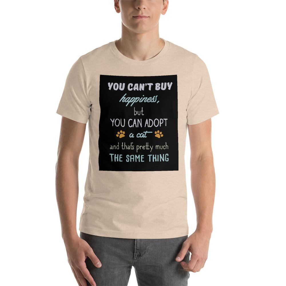 You can't buy happiness, but you can adopt a cat Men's T-Shirt Chiro's Heather Dust S