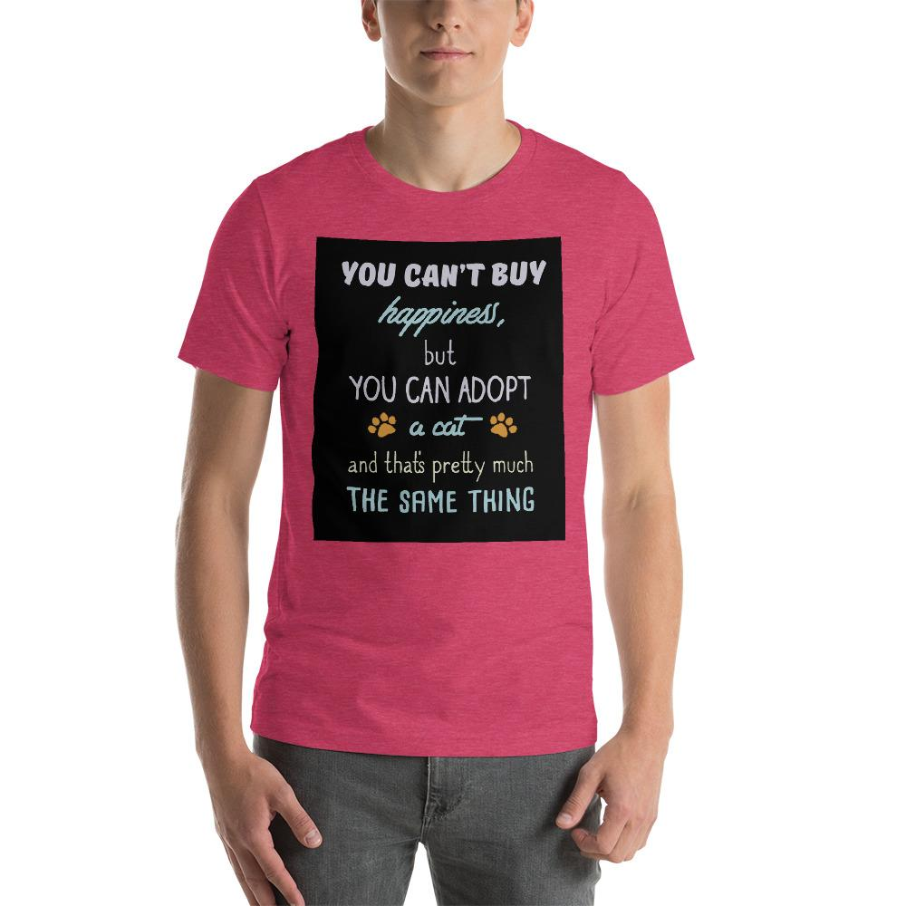 You can't buy happiness, but you can adopt a cat Men's T-Shirt Chiro's Heather Raspberry S