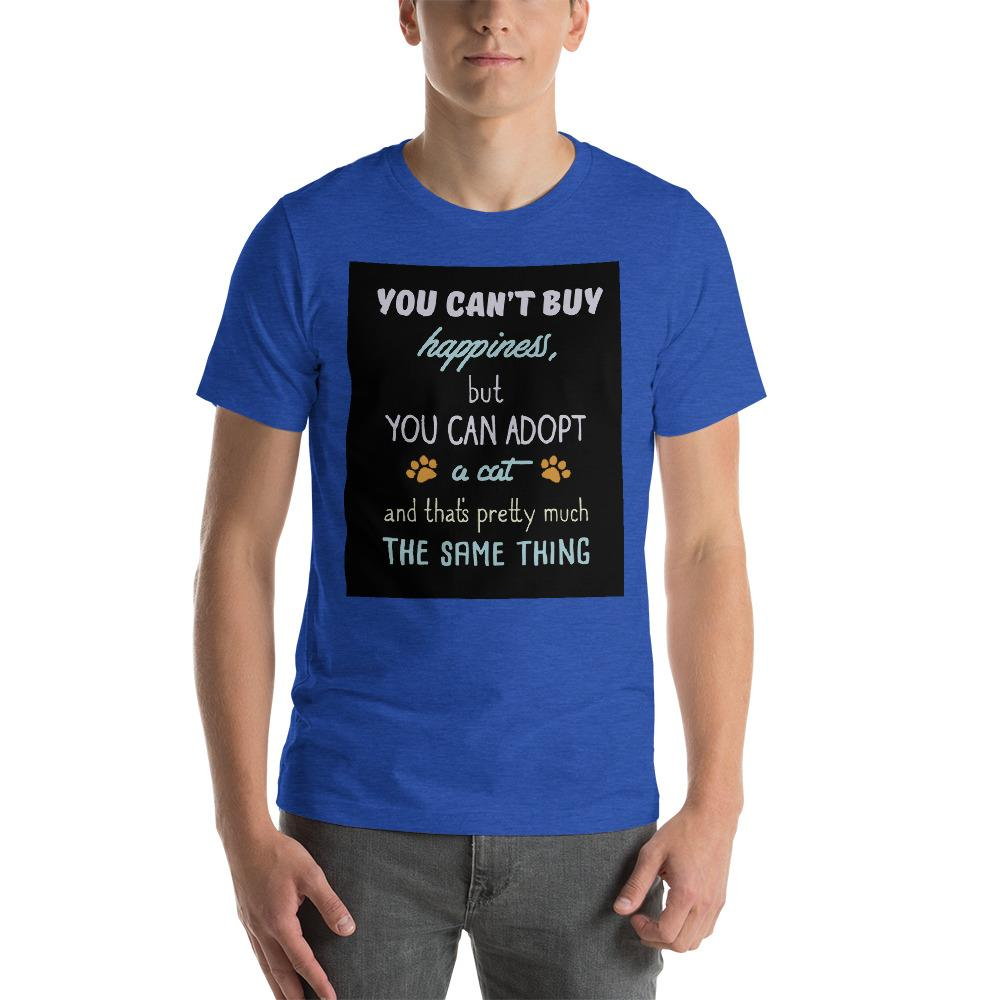 You can't buy happiness, but you can adopt a cat Men's T-Shirt Chiro's Heather True Royal S