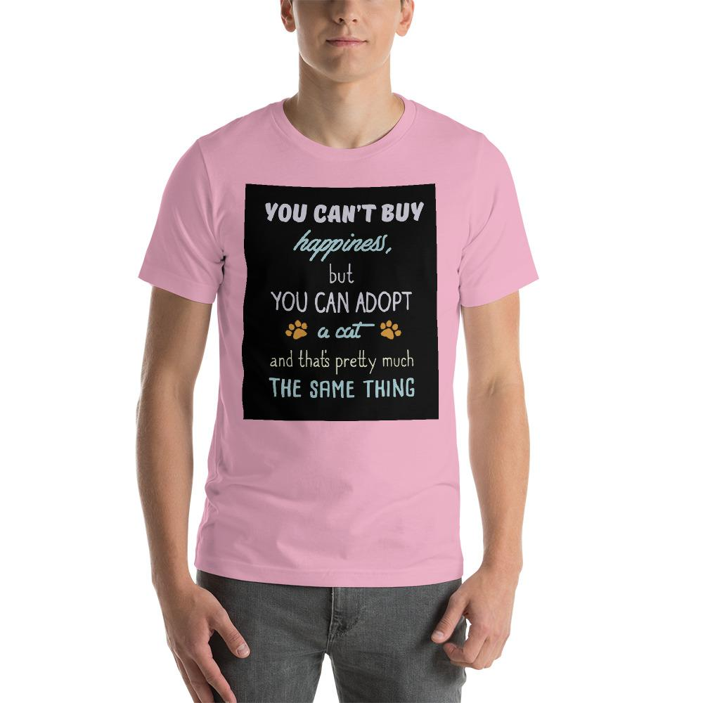You can't buy happiness, but you can adopt a cat Men's T-Shirt Chiro's Lilac S