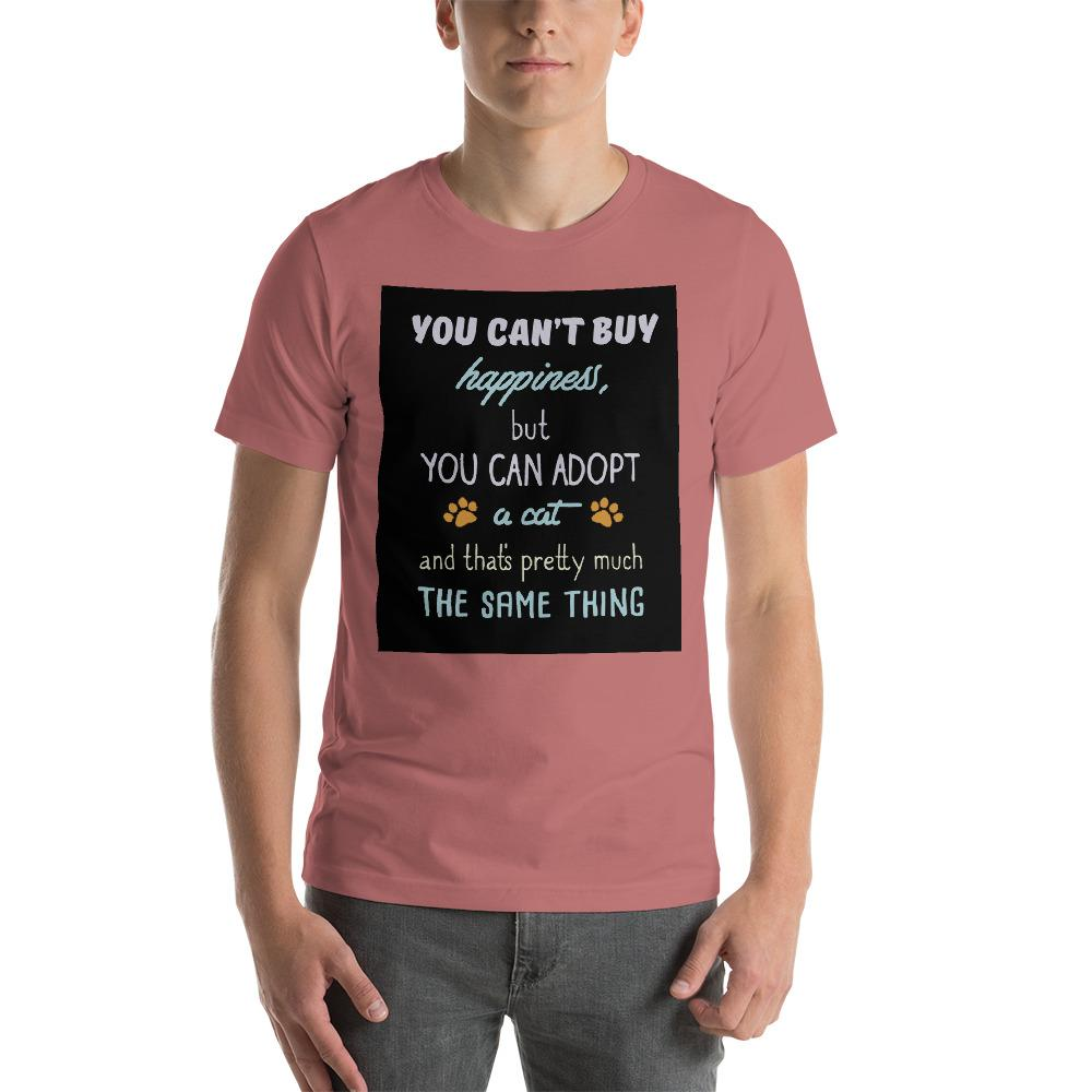 You can't buy happiness, but you can adopt a cat Men's T-Shirt Chiro's Mauve S