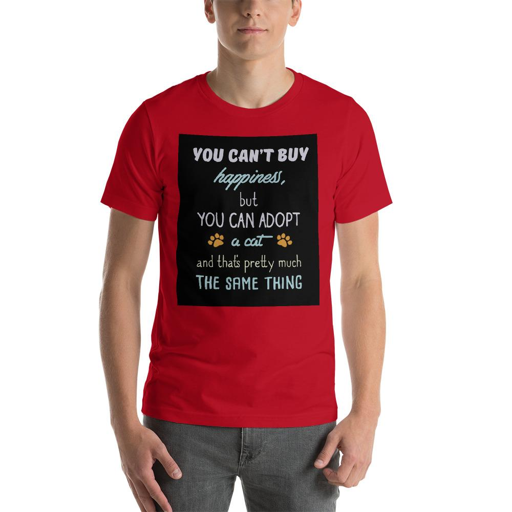You can't buy happiness, but you can adopt a cat Men's T-Shirt Chiro's Red S