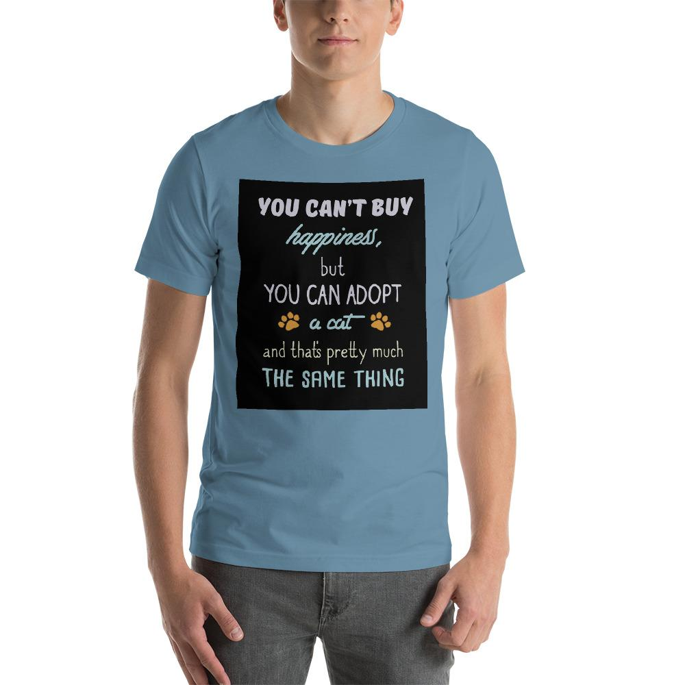 You can't buy happiness, but you can adopt a cat Men's T-Shirt Chiro's Steel Blue S