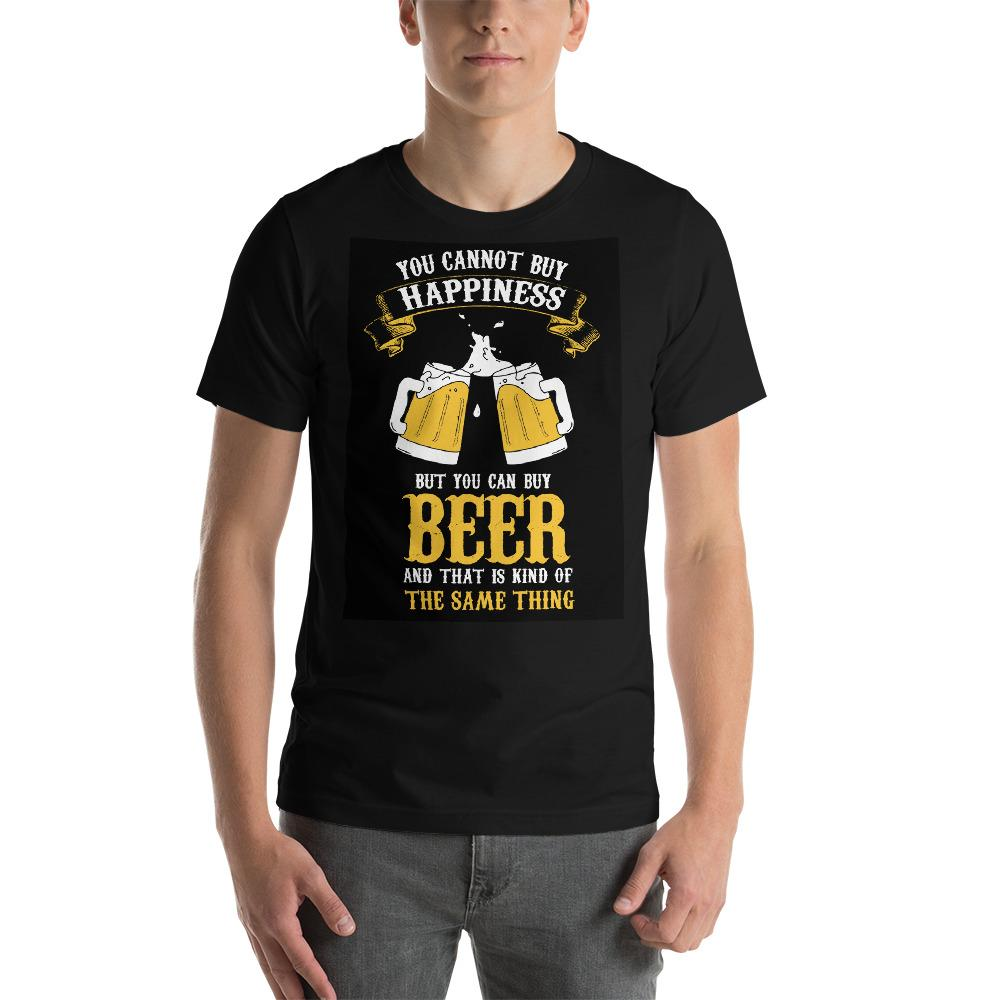You can't buy happiness but you can buy beer Men's T-Shirt Chiro's Black XS