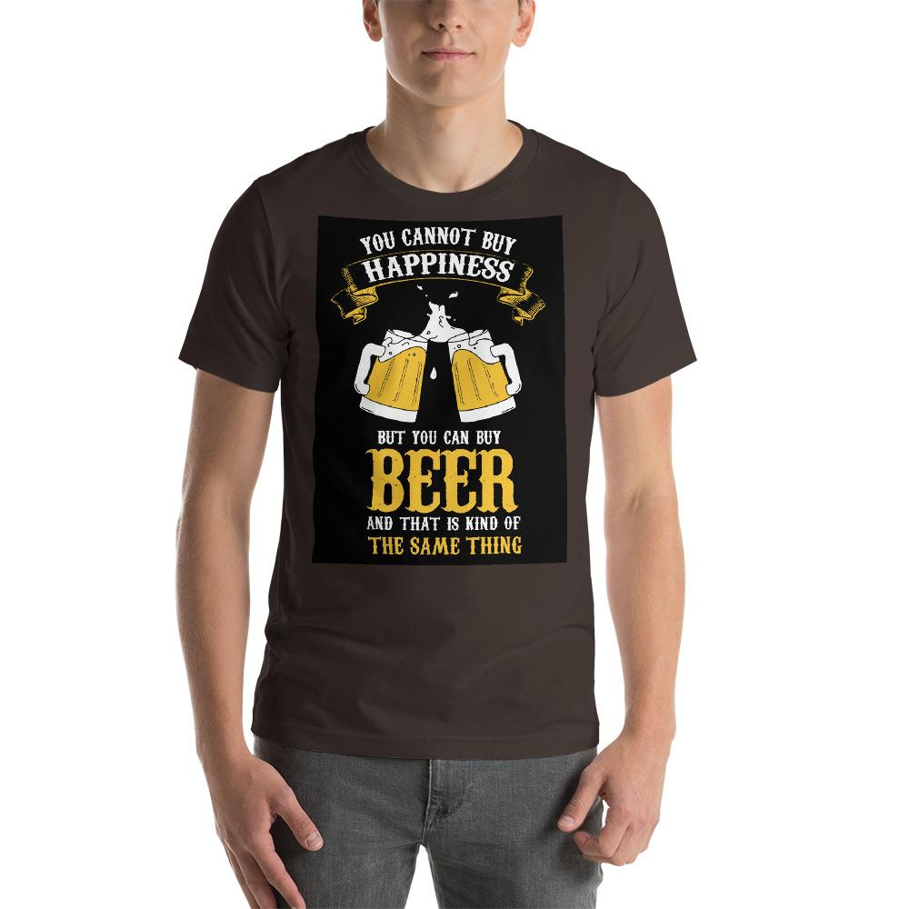 You can't buy happiness but you can buy beer Men's T-Shirt Chiro's Brown S