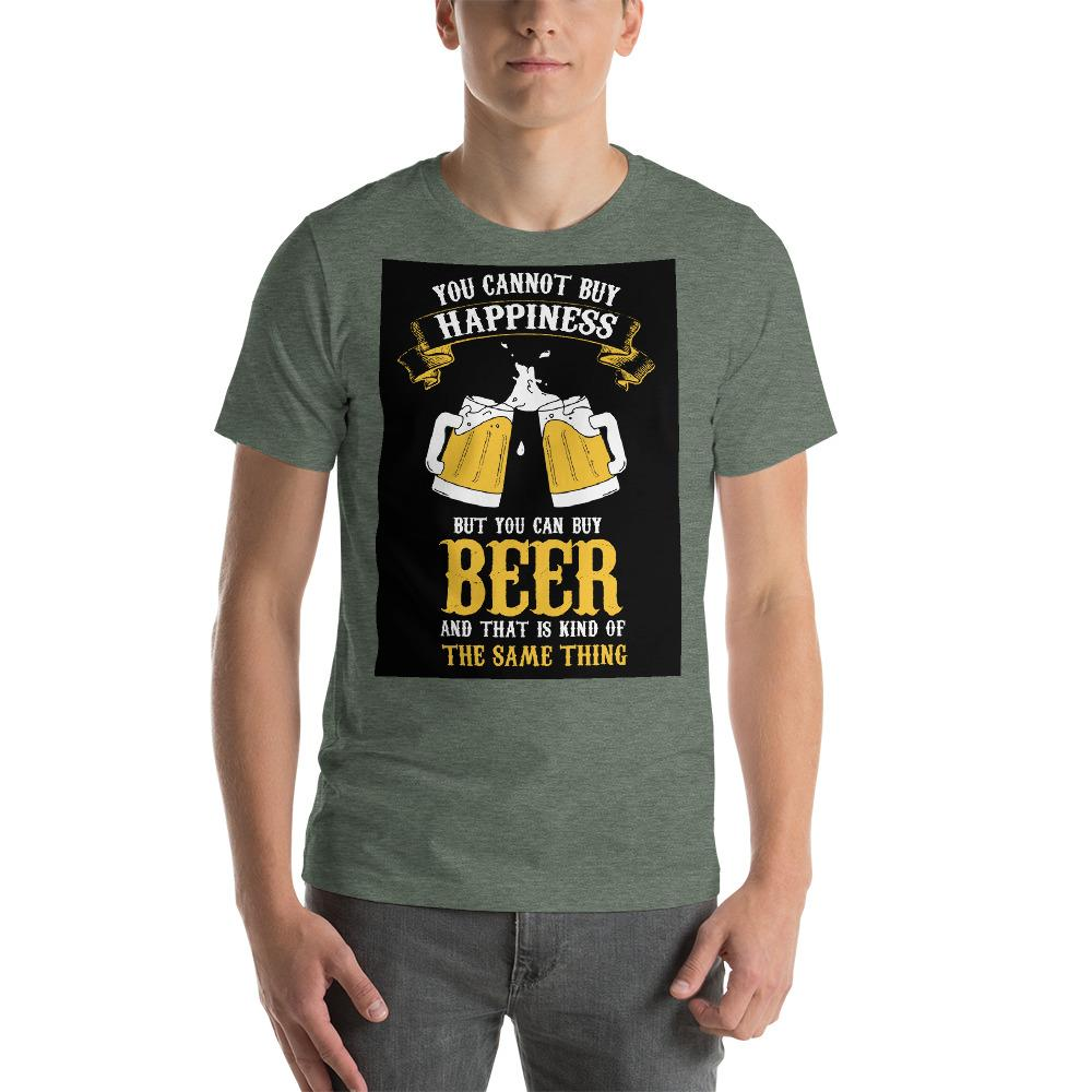 You can't buy happiness but you can buy beer Men's T-Shirt Chiro's Heather Forest S