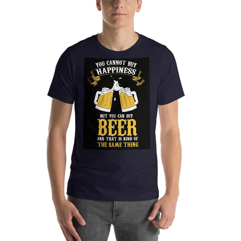 You can't buy happiness but you can buy beer Men's T-Shirt Chiro's Navy XS