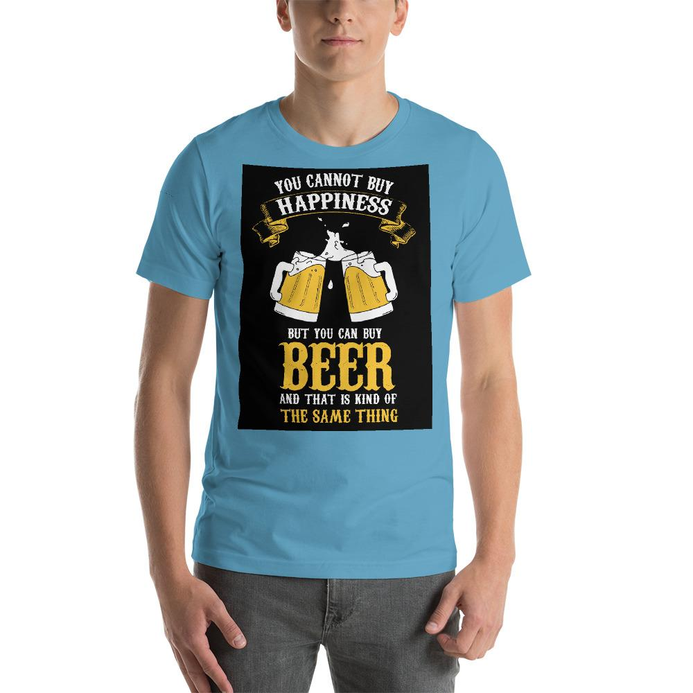 You can't buy happiness but you can buy beer Men's T-Shirt Chiro's Ocean Blue S