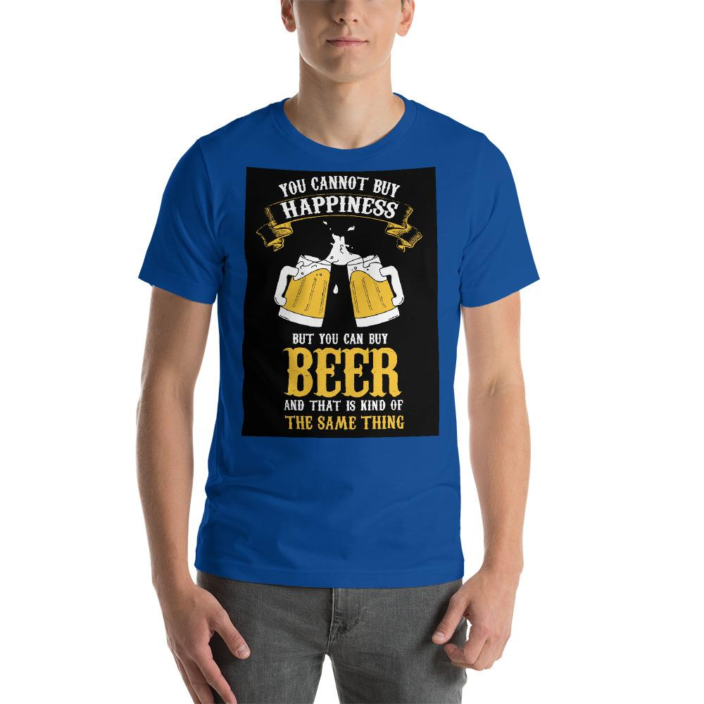 You can't buy happiness but you can buy beer Men's T-Shirt Chiro's True Royal S