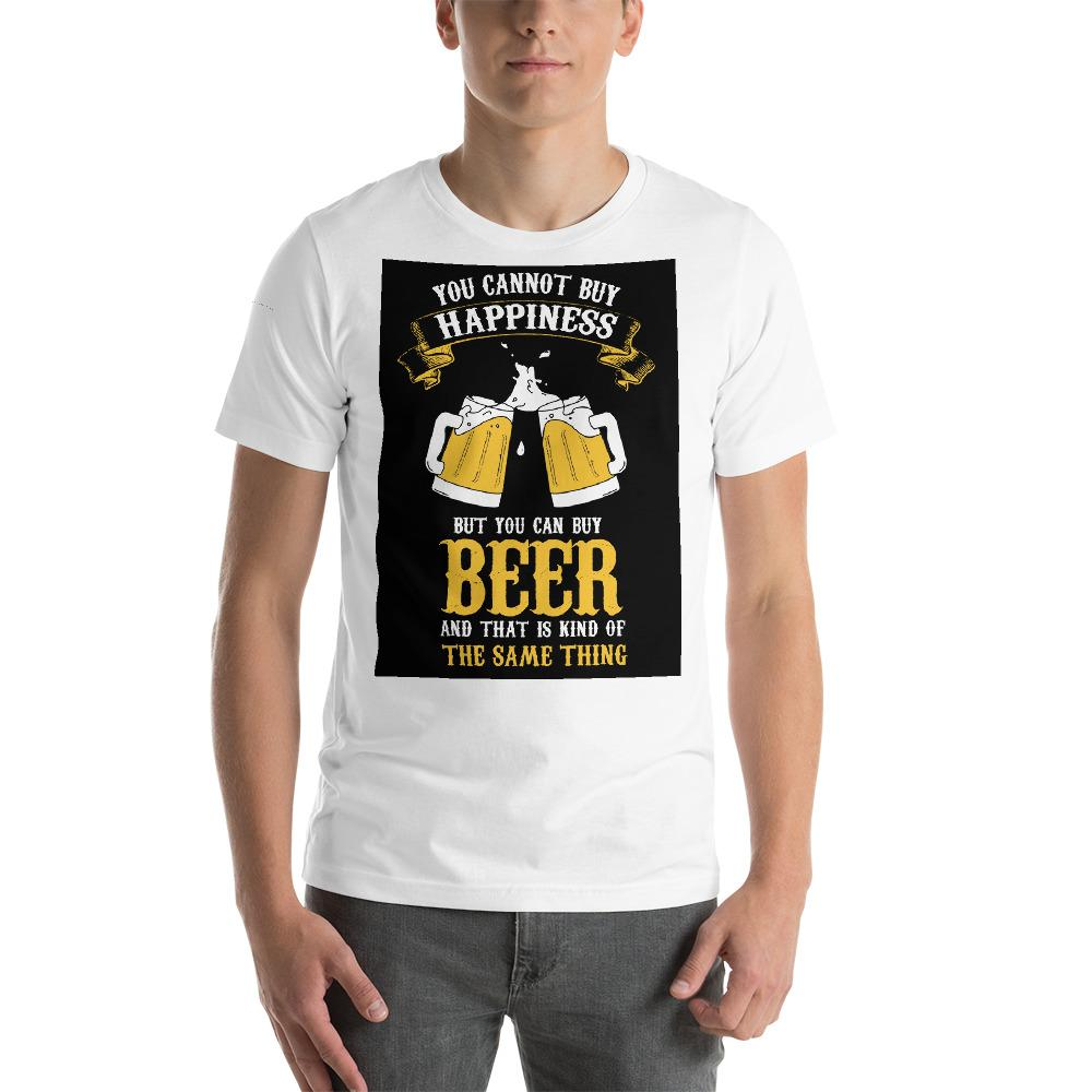 You can't buy happiness but you can buy beer Men's T-Shirt Chiro's White XS