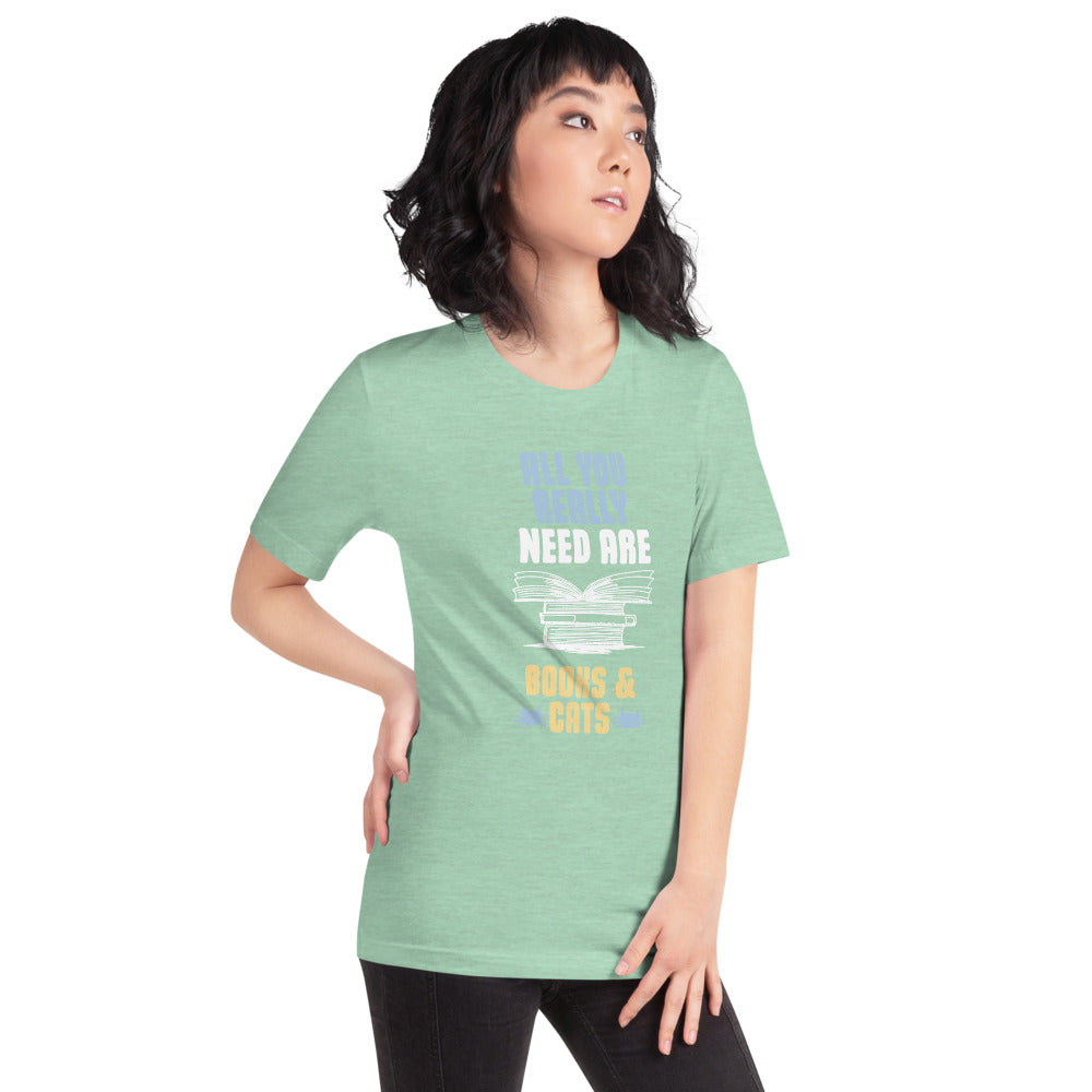 All you really Need are Books and Cats Women's T-Shirt