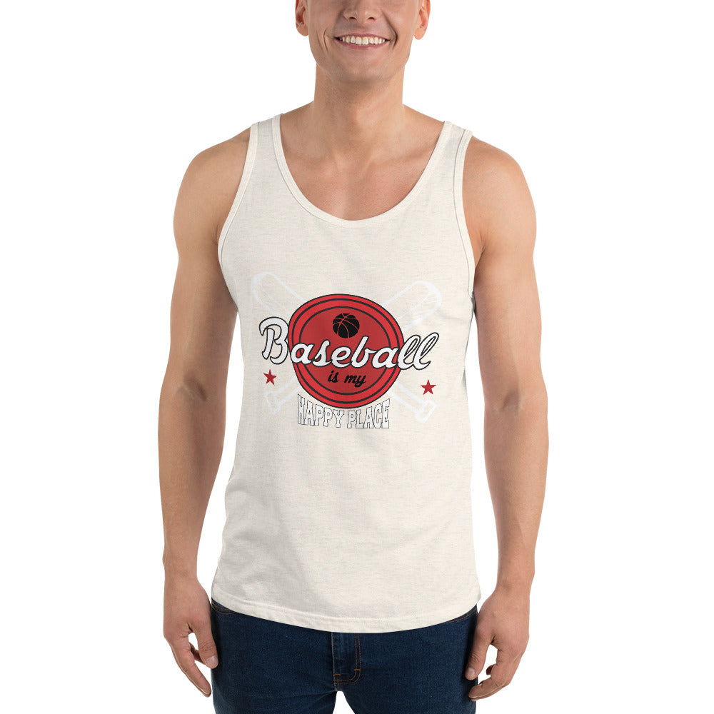 Baseball My Happy Place Men's Tank Top