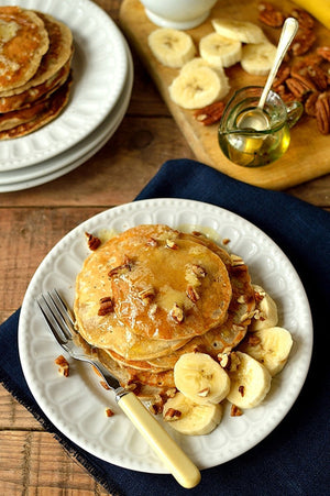 Banana Pancakes With Honey Butter