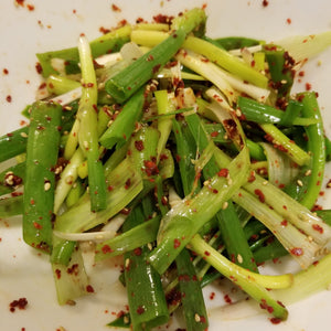Korean Style Spicy Leak Salad (or Green Onion)