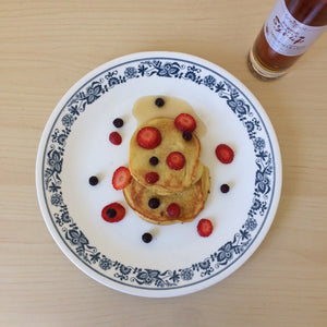 Coconut Flour Pancake with Organic Maple Syrup (Vegetarian + eggs)