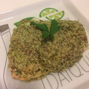 Hemp Pesto Salmon Paillote