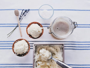 Homemade Sea Salt and Honey Ice Cream Recipe