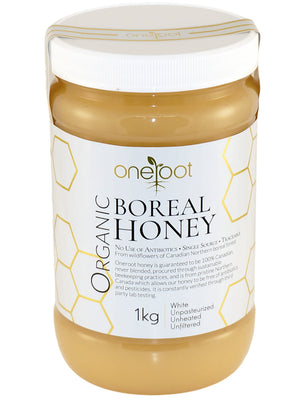 Organic Raw Boreal Honey - 1kg