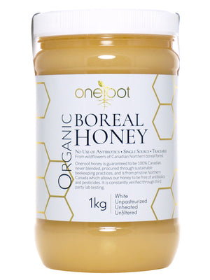Organic Raw Boreal Forest Wildflower Honey - 1kg