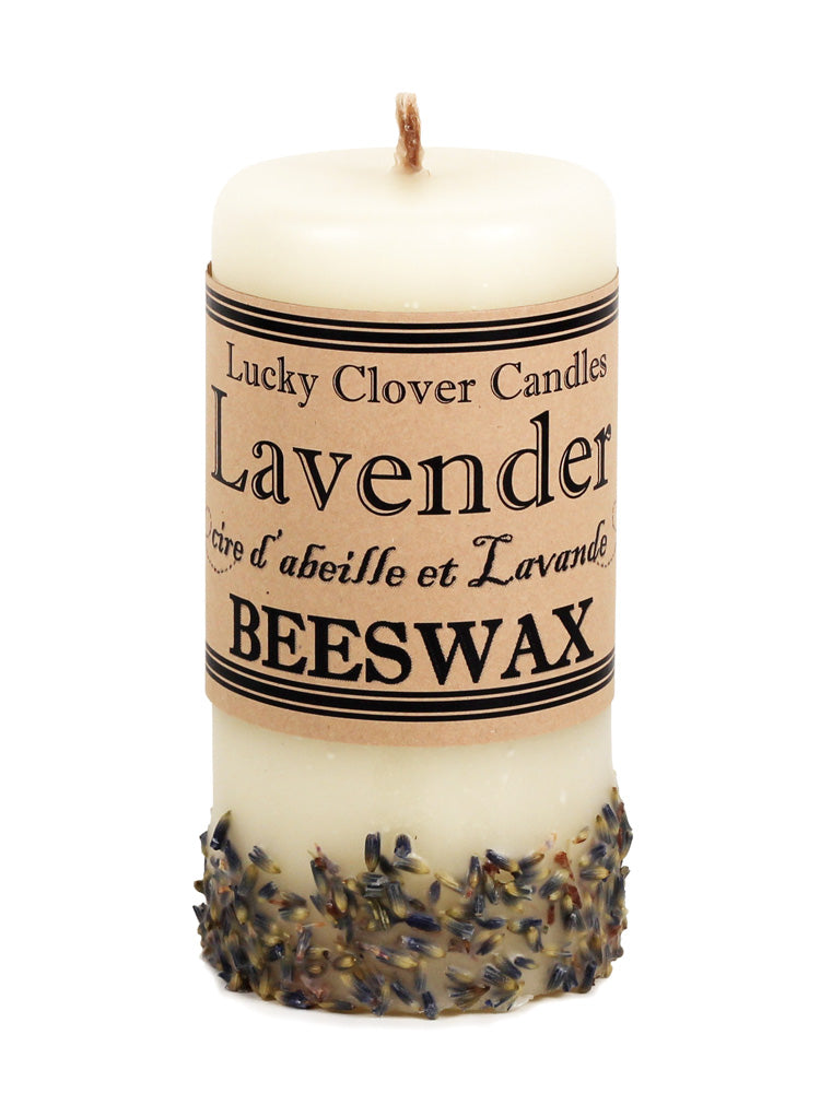 Lavender Beeswax Candle