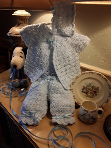 Blue Baby Layette