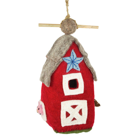 Felt Birdhouse - Country Barn - Wild Woolies