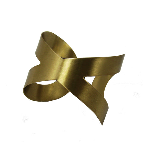 Crisscross Cuff  - Gold - WorldFinds