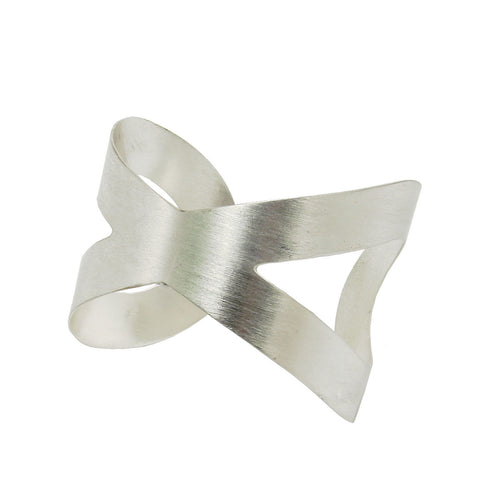 Crisscross Cuff - Silver - WorldFinds