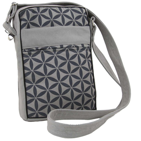 Flower of Life Festival Bag - Grey/Grey - Global Groove (B)