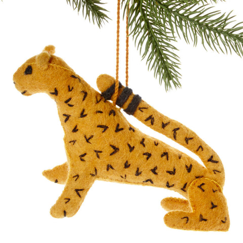Jaguar Felt Holiday Ornament - Silk Road Bazaar (O)