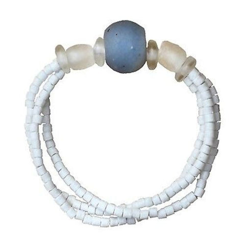 Recycled Blue Glass Abacus Bracelet - Global Mamas