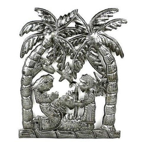 Palm Tree Nativity Wall Art - Croix des Bouquets (H)