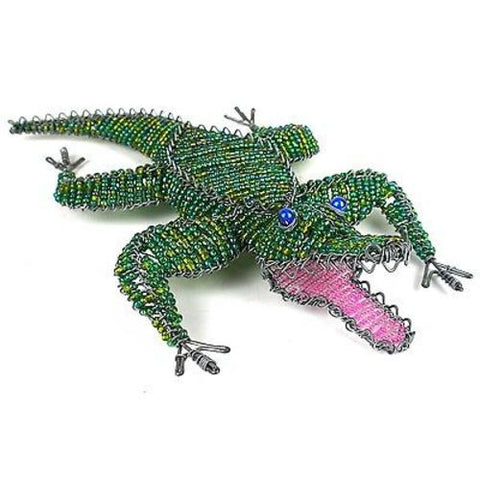 Handmade Large Beaded Crocodile - South Africa