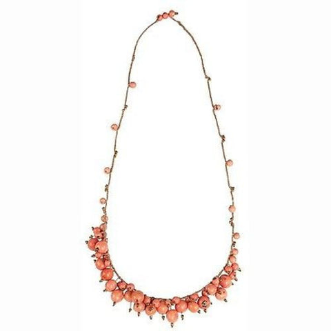 Cloud Forest Necklace in Salmon - Faire Collection