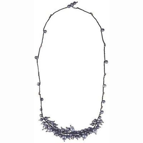 Cloud Forest Necklace in Periwinkle - Faire Collection