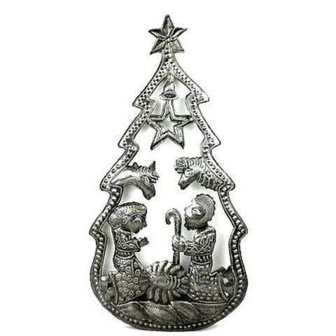 Christmas Tree Nativity Wall Art - Croix des Bouquets (H)