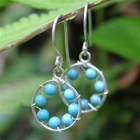 Turquoise Inner Circle Earrings - WorldFinds