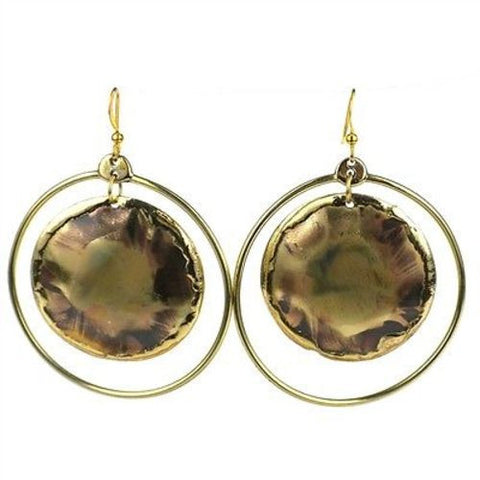 Nebula Brass  Earrings - Brass Images (E)