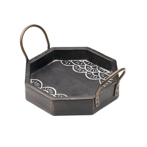 Wood Vasant Serving Tray - Small - Matr Boomie (T)