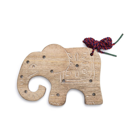Wood Elephant Lacing Toy - Matr Boomie