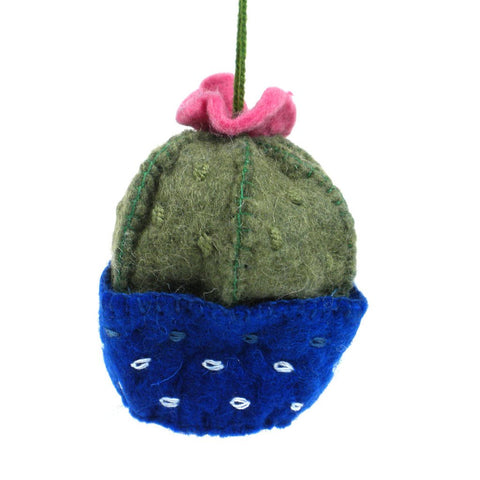 Felt Barrel Cactus Ornament - Silk Road Bazaar (O)