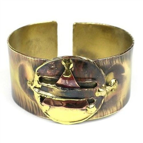 Captured Triangle Cuff - Brass Images (C)