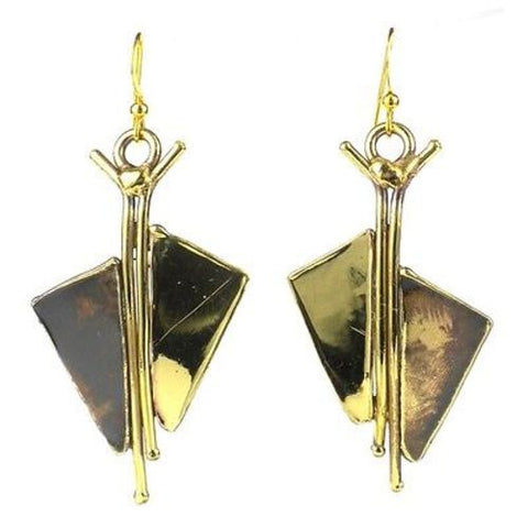 Full Sail Brass Earrings - Brass Images (E)