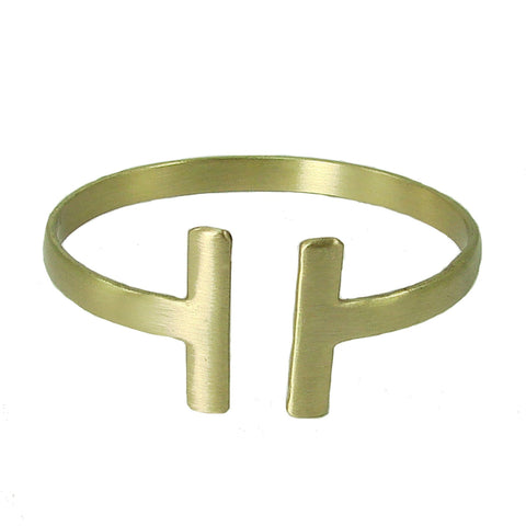 Perpendicular Cuff - gold - WorldFinds