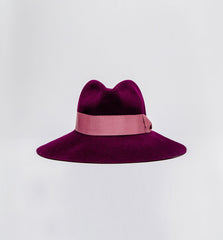 Felt Shade Hat Plum