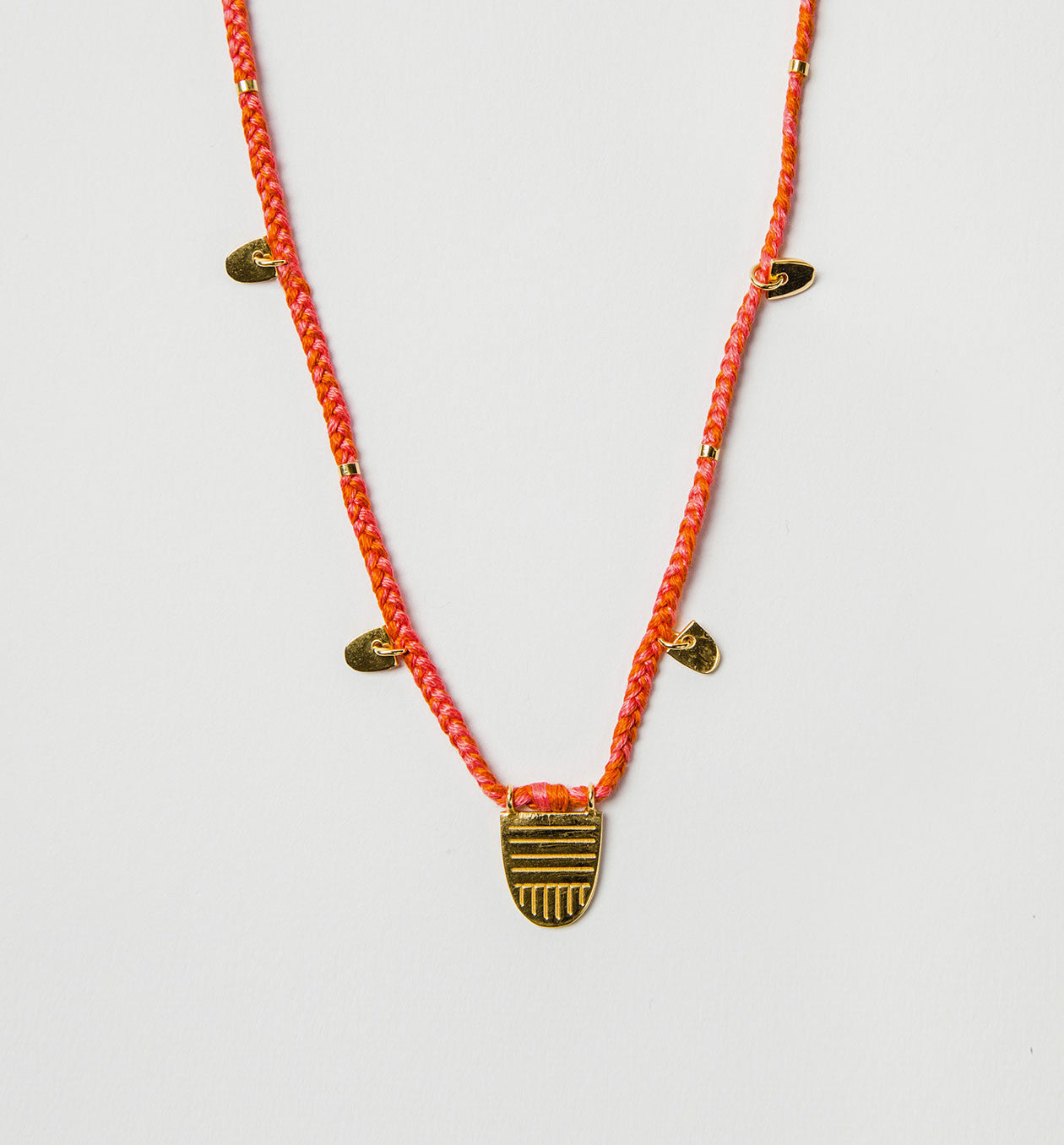 Buddhist Flag Necklace