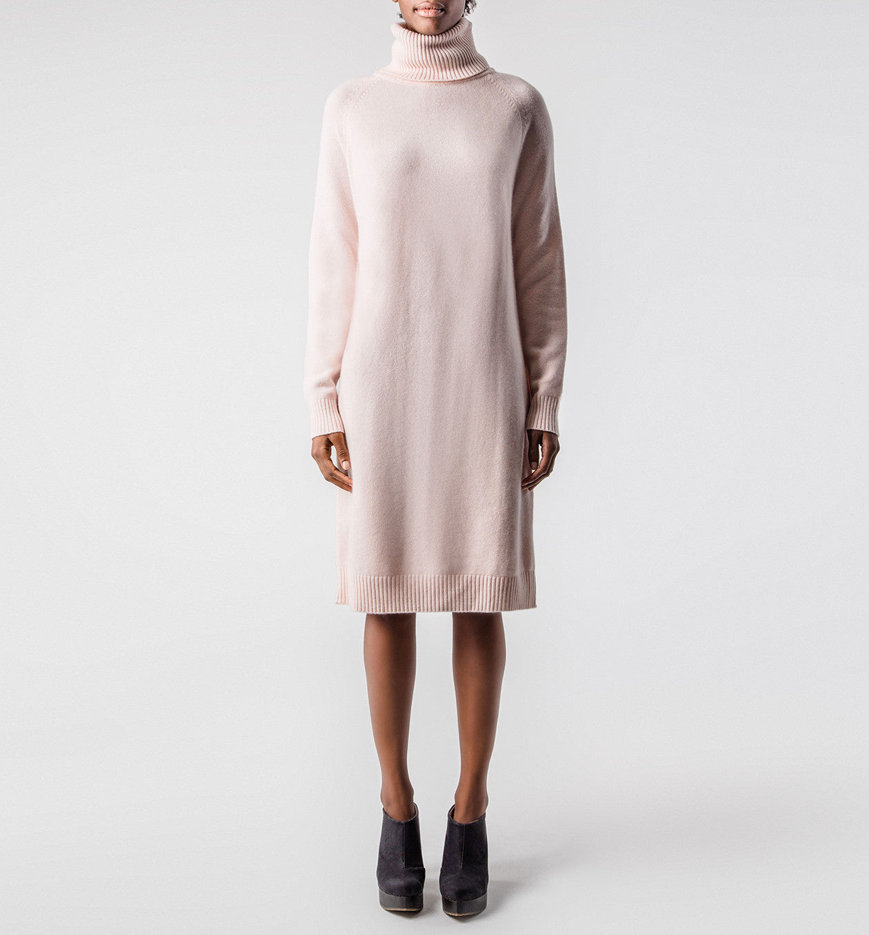 Turtleneck Dress Apricot