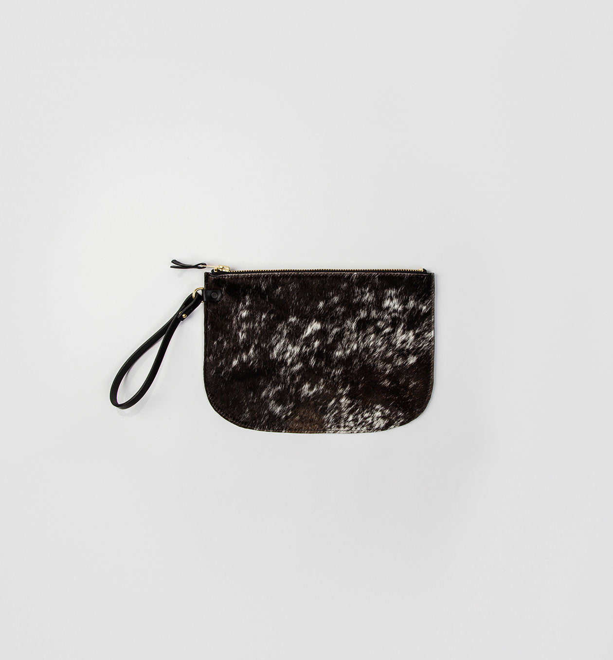 Salt & Pepper Lune Clutch